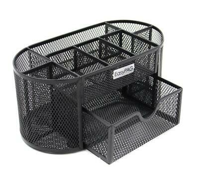 Easypag Mesh Desk Organizer Office Supplies Caddy With Drawerblack