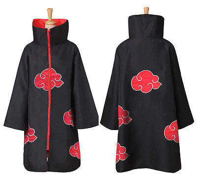 US!Anime NARUTO Uchiha Itachi Cosplay Costume Cloak Akatsuki Ninja Wind Coat Set - Naruto Costums