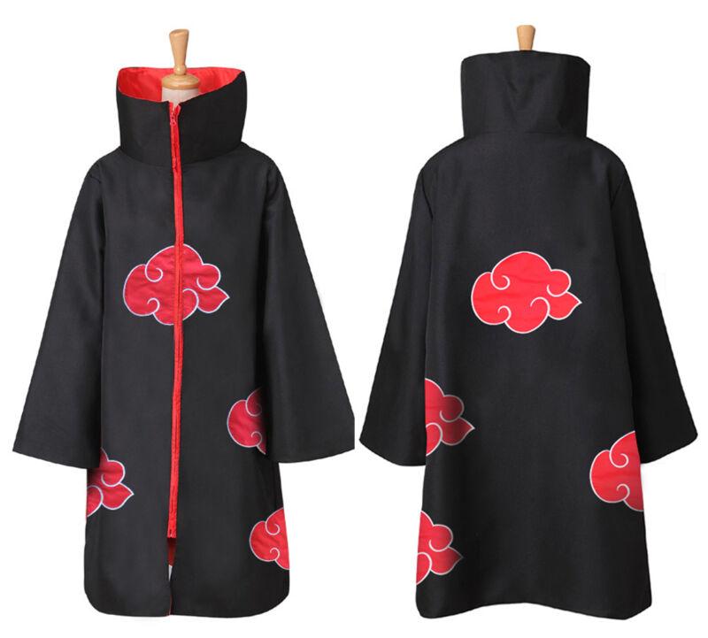 US Anime NARUTO Uchiha Itachi Cosplay Costume Cloak Akatsuki Ninja Wind Coat Set
