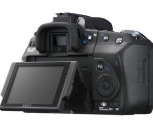 Sony A350 camera with Sony camera bag