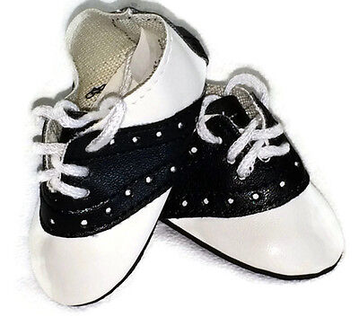 Black & White Saddle Shoes made for 18