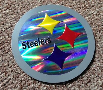 🏈 PITTSBURGH STEELERS 'Chrome Refractor' Embossed Aluminum STICKER/DECAL! 🔥 - Steelers Stickers