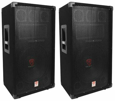 "(2) Rockville RSG12 12"" 3-Way 1000 Watt 8-Ohm Passive DJ/Pro Audio PA Speaker"