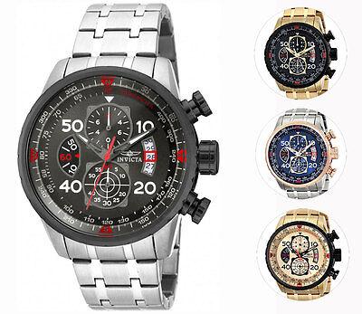 Invicta Men\s Quartz Aviator Chronograph Bracelet Watch