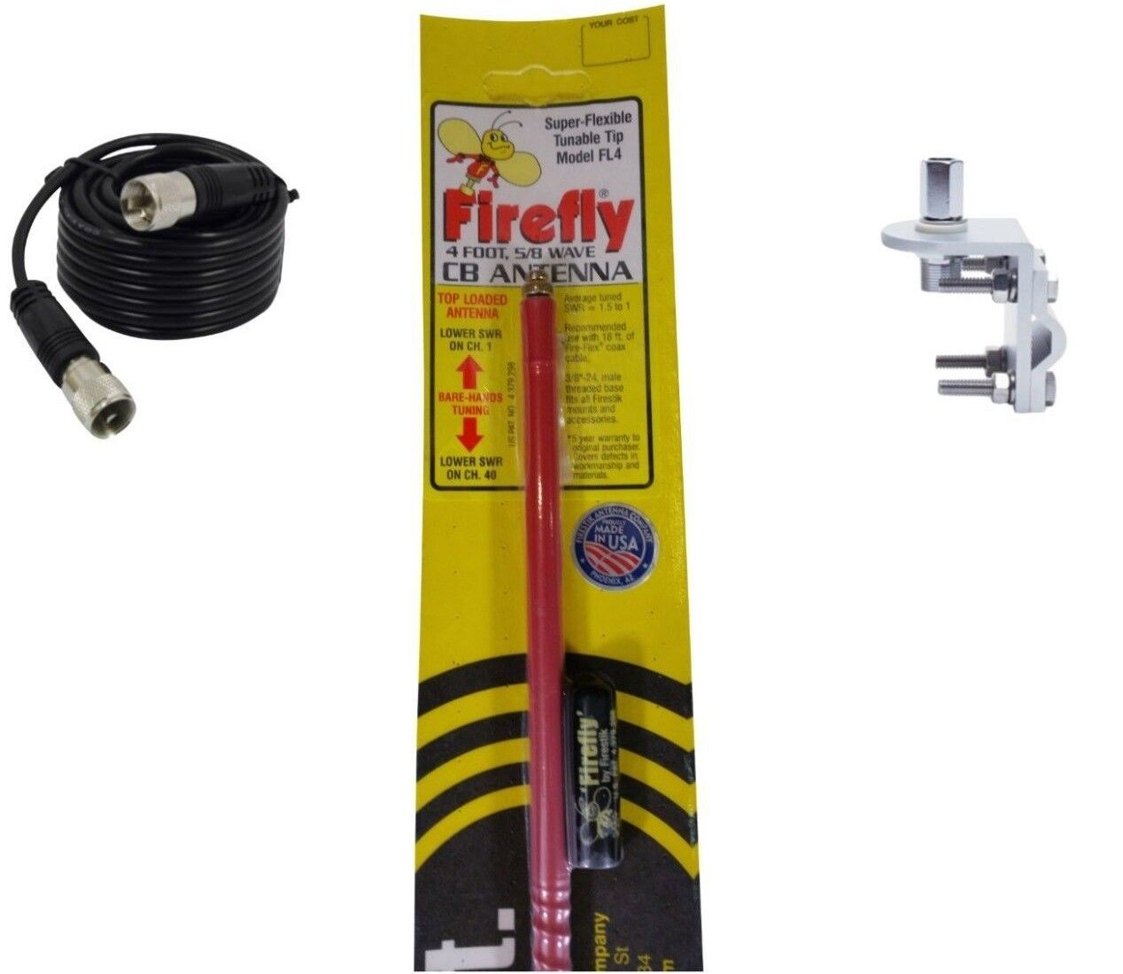 FireStik FL4-R Four Foot FireFly antenna with tuneable tip