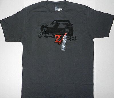 Men's Chevy Motors Classic Logo Camaro Z28 T Shirt Graphic Tee, Gray, GM -
