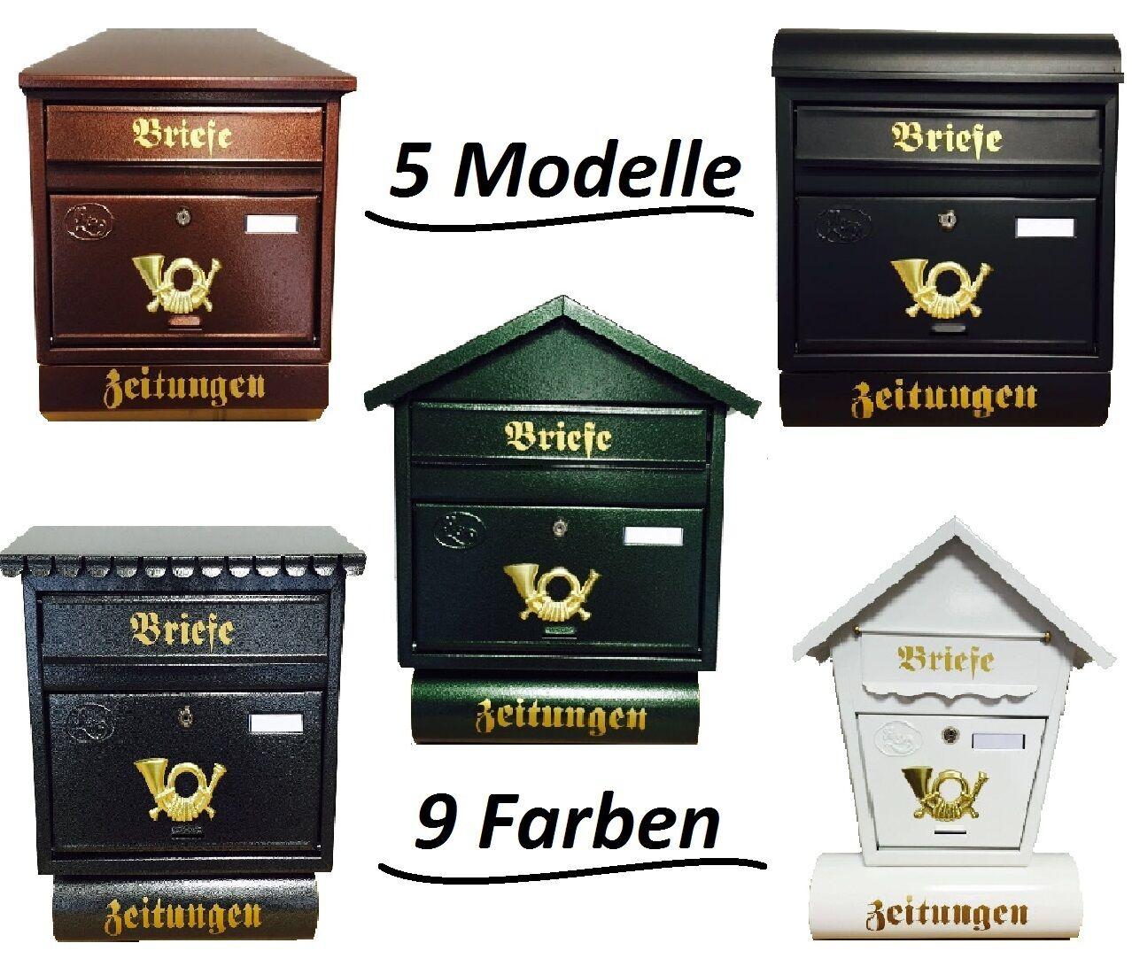 Schild Post Metall Briefkasten kleines schwedenhaus Türschild schwarz
