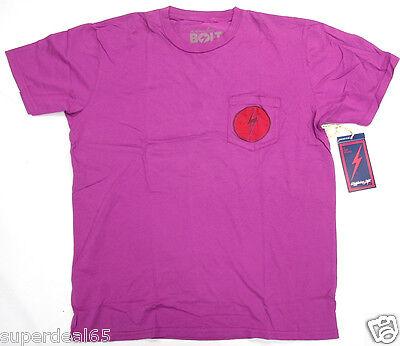 Purple Lightning Bolt (Lightning Bolt T Shirt Wahini Pocket T Striking Purple 100% Cotton Retro)
