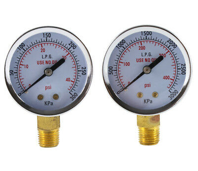 Low And High Pressure Gauges For Propane Regulator - 2 Inches Pair