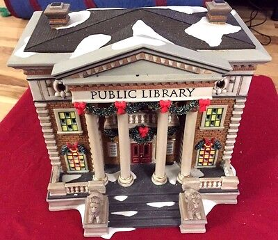 Hudson Public Library Dept 56 Christmas in the City 58942 retired complete snow