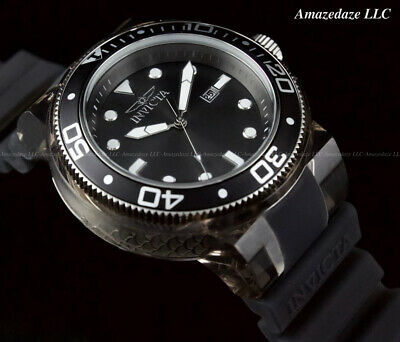 NEW Invicta Men's 52 mm GRAND PRO DIVER ANATOMIC CASE Black Dial Quartz Watch !!