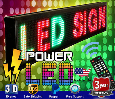 """LED SIGN 52"""" X 19"""" OUTDOOR PROGRAMMABLE SCROLL MESSAGE BOARD 3 COLOR SIGN"""