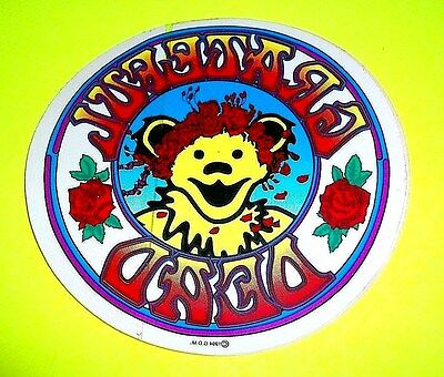 Vtg GRATEFUL DEAD Dancing Bear w Roses STICKER RARE 100% Authentic 1994 G.D.M. ! Authentic Grateful Dead Bears