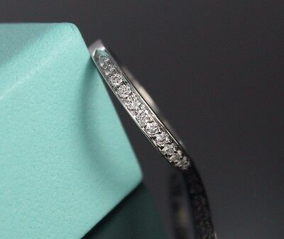 Tiffany & Co Legacy 2.5mm Platinum Pave Round Diamond Half Circle Wedding - Tiffany Legacy Wedding Band