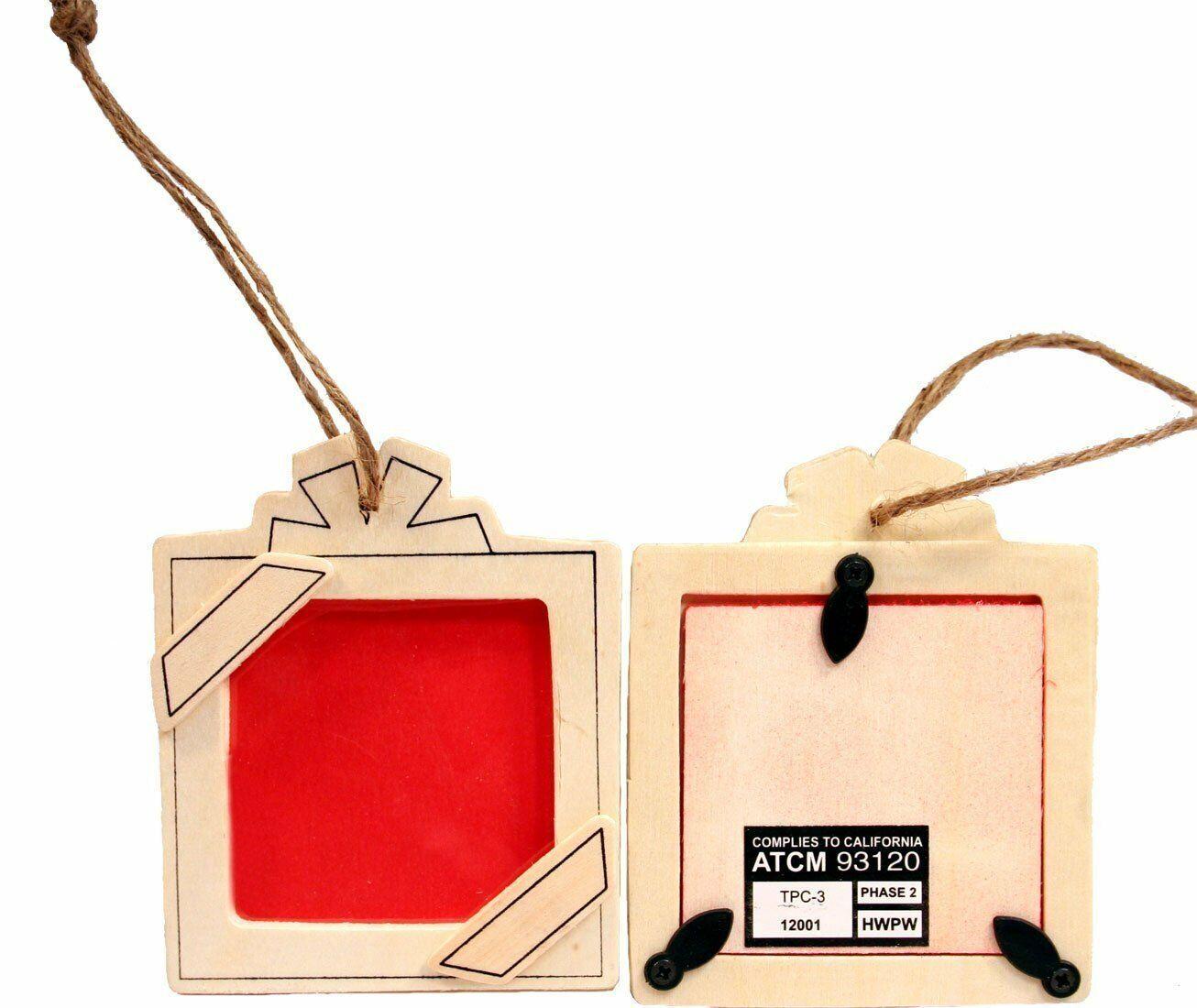 12 Pack – Kid Friendly DIY Square Present Picture Frame Ornaments, U Decorate Crafts