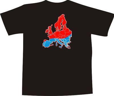 T-Shirt E1248 - Grafik / Design - Landkarte Europa rot - blau