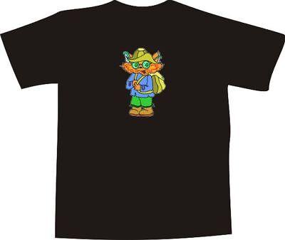 T-Shirt E919 - Comic Design - der gestiefelte Kater mit Rucksack & Hut