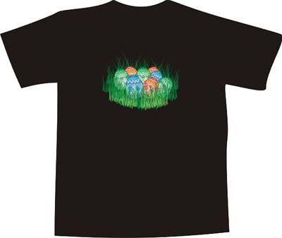 T-Shirt E142 - bunt bemalte Ostereier im Gras