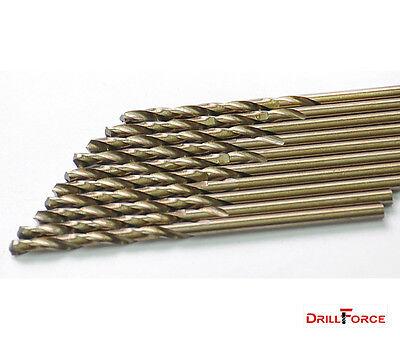 """10Pcs Pack 1/8"""" HSS Cobalt Jobber Length Twist Drill Bit M35 for Metal"""