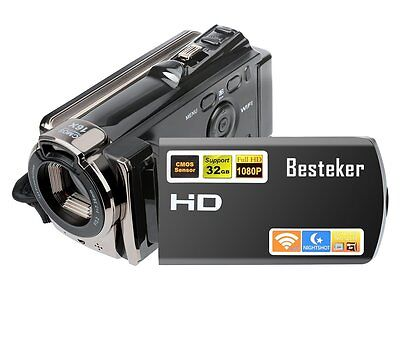 Video Camcorder, Besteker FHD 1080P IR Night Vision 20.0 MP