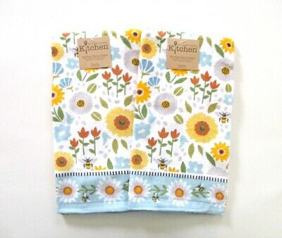 Kay Dee Designs - Kitchen Terry Towels - Garden Bee - Set of 2 - NWT
