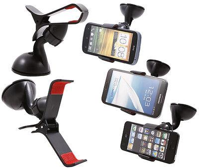 360°Car Holder Windshield Mount Bracket for Mobile Cell Phone GPS iPhone Samsung