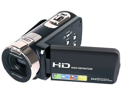 "Camera Camcorder HD 1080P 24MP 16X Digital Zoom 2.7"" LCD 270 Dngree Rotation"