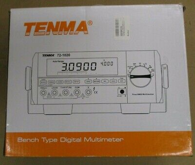 Tenma 72-1020 Lab Grade Benchtop Multimeter Pair Of Leads Power Cord Clean