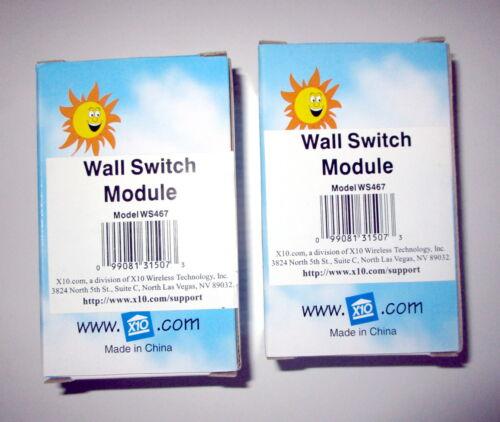 Lot Of 2 X10 Powerhouse Wall Switch Modules WS467
