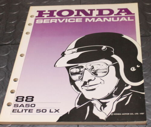 NOS OEM Honda Service Shop Manual NEW 88 SA50 ELITE 50 LX SA 50