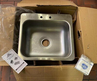 Advance Tabco Di-1-208 Sink Counter Top Drop-in Stainless Steel 20x16x8 18g New