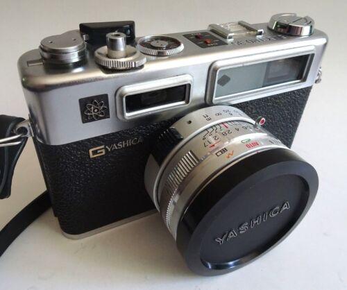 Vtg YASHICA GSN ELECTRO 35 Camera Hong Kong Japan Black Spiderman Rangefinder