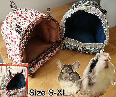 Hammock for Rat Parrot Rabbit Guinea Pig Ferret Hanging Bed Toy House Cage S-L