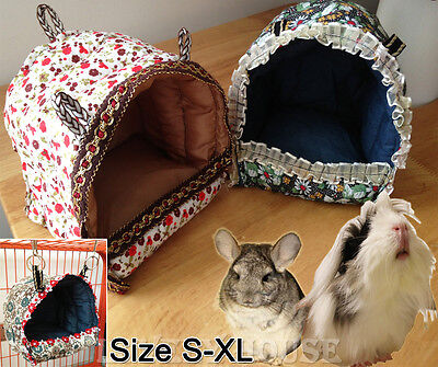 Hammock for Rat/Parrot/Rabbit/Guinea Pig/Ferret Hanging Bed Toy House Cage S-L