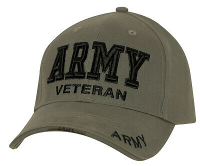 US Army Veteran Cap Ballcap OD Olive Drab Military Green Hat Rothco 3946