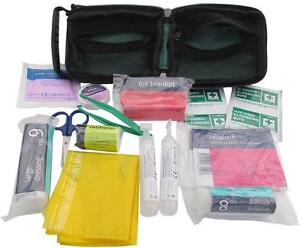 comprehensive pet dog puppy first aid travel kit camping caravan + TICK REMOVER