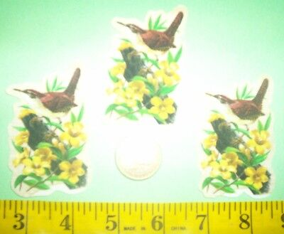 New!Cool!South Carolina State Bird and Flowers IRON-ONS FABRIC APPLIQUES IRON-ON