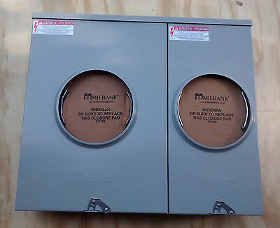 New Milbank U6035-o 200a100a 4 Terminal 2 Position Meter Socket Enclosure