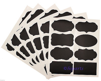 Chalkboard Blackboard Chalk Board Stickers Decals Craft Kitchen Jar Labels 48/56