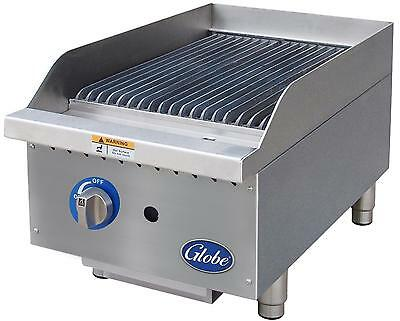 Globe Gcb15g-sr 15 Counter-top Natural Gas Char-broiler - Radiant