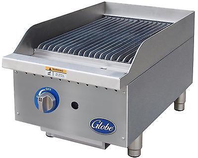 Globe Gcb15g-sr 15 Counter-top Natural Gas Char-broiler - Radiant