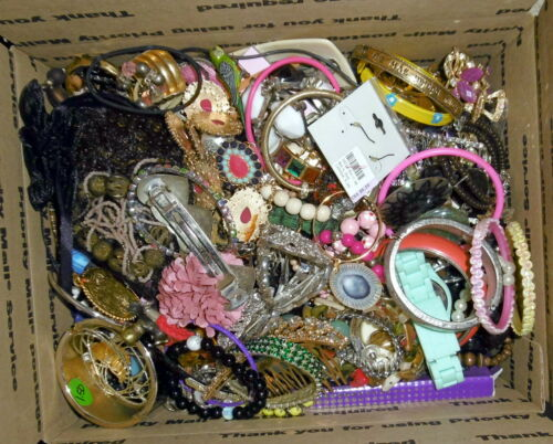 11.4lbs Pounds Vintage & Modern Costume Jewelry Repair Craft Wear Lot#2