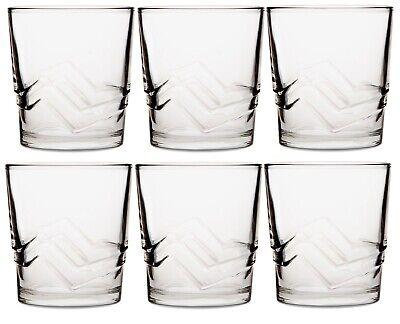 CoK Diseño de Remolino Cristal Grande Vaso Juego Apilables Zumo Agua Gafas...