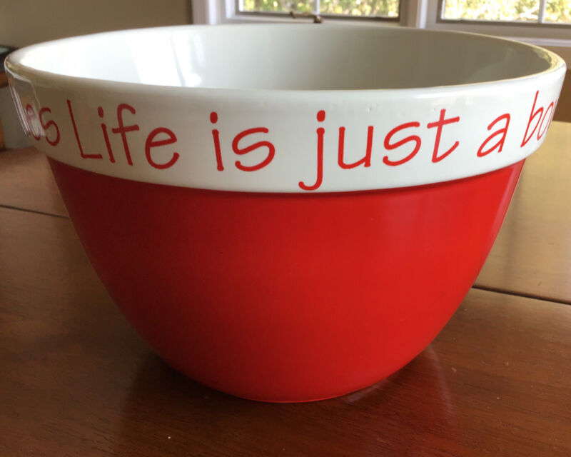 """""""Life Is Just A Bowl Of Cherries"""" Large Bowl"""