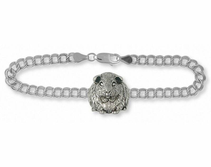 Guinea Pig Bracelet Jewelry Sterling Silver Handmade Piggie Bracelet GP1-B