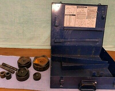 Incomplete Current Tools Punch Die Set For Hydraulic Knockout Set 1 2 3 4
