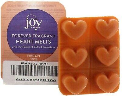 JOY 6Pc Odor-Eliminating Heart Wax Melts Pumpkin Spice NEW 443-180