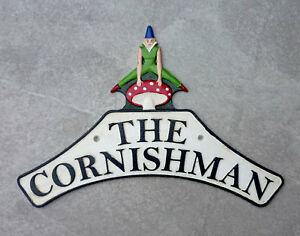 Railway Sign 'The Cornishman' Cast Iron Replica Great Western Railway Nameplate