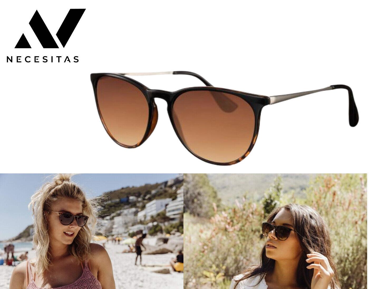 NECESITAS Designer Sonnenbrille Salou Tiger Nerd Retro Damen Unisex Etui + Tuch