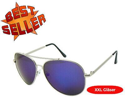 Sonnenbrille Pilotenbrille Aviator Fashion Partybrille Top Gun XXL Glässer 80er